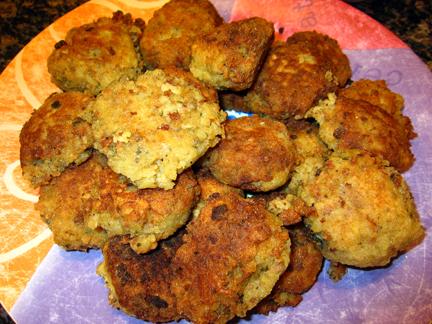 : Fried boudin balls , a specialty of Cajun cuisine, uncased boudin ...