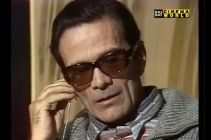 pasolini interview cannes
