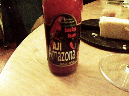 amazona salsa roja aji