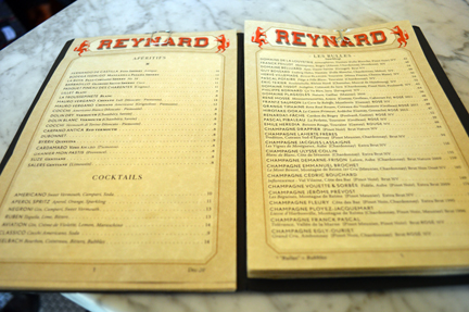 reynards brooklyn wine list