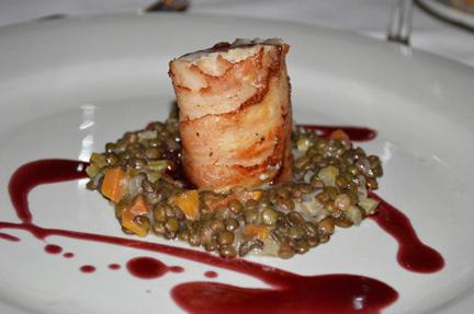 monkfish prosciutto