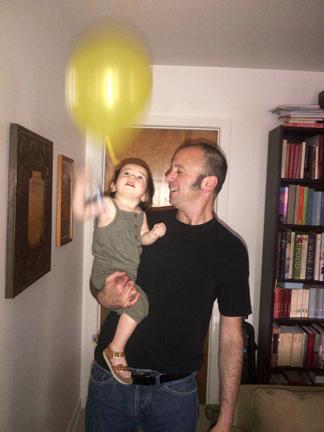 girl yellow balloon