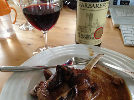 veal chop barbaresco
