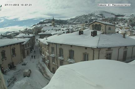 snow abruzzo olive grove
