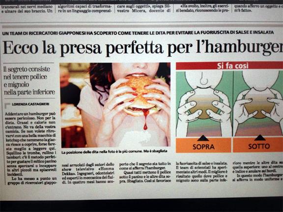 best hamburger italy
