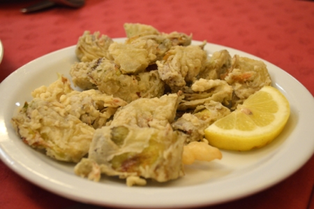 fried artichokes roman rome