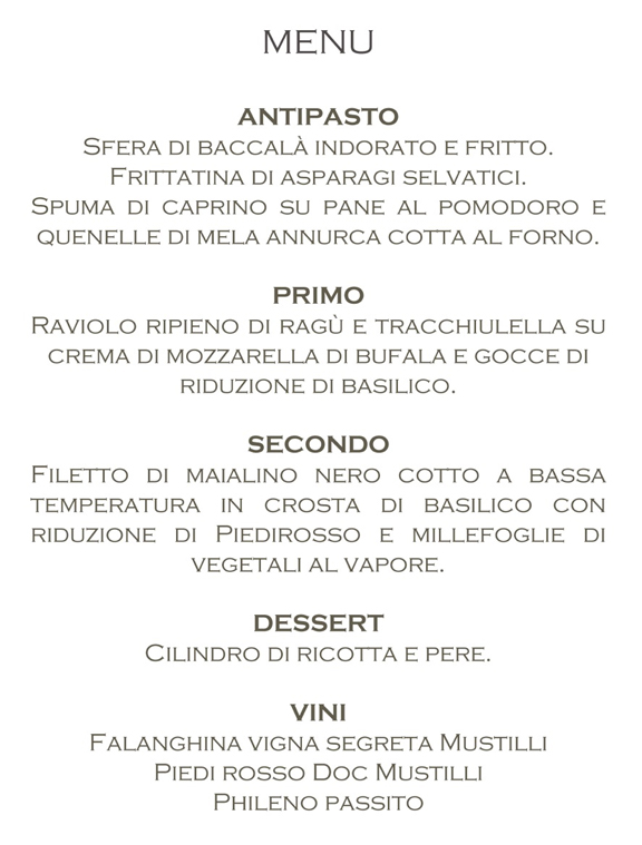 mayor menu sant agata goti