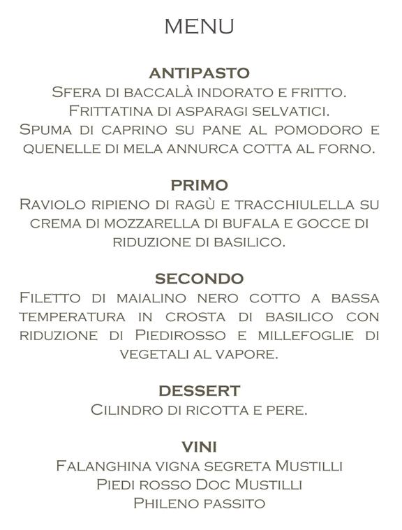 mayor menu sant agata goti