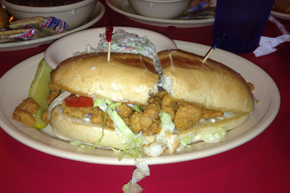 shrimp po boy steam boat bill lake charles
