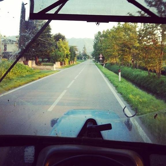 vineyard tractor italy prosecco