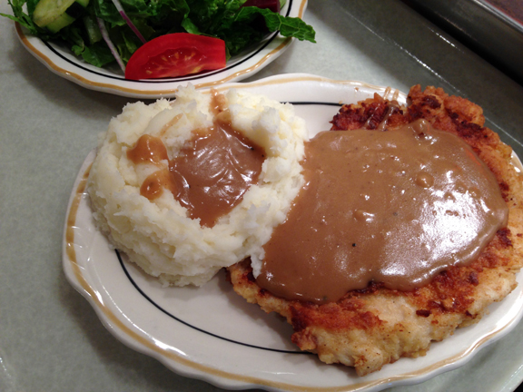 chicken and gravy potatoes mashed