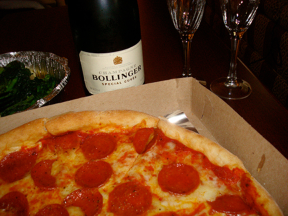 pizza champagne porn