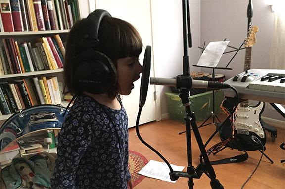 georgia in the studio
